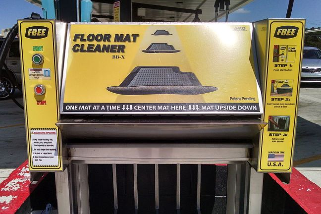 Car Floor Mat Cleaning in Montgomery, AL - automated floor mat cleaning machine