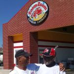Solomon Griffin Sr and Jr at West South Blvd location of Zoom Zoom Car Wash